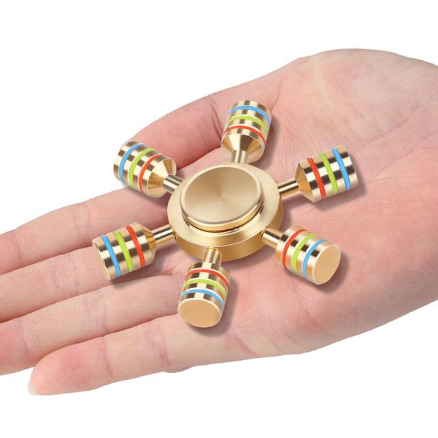 Rainbow Fidget Spinner With Metal Box – Anti Stress Toy