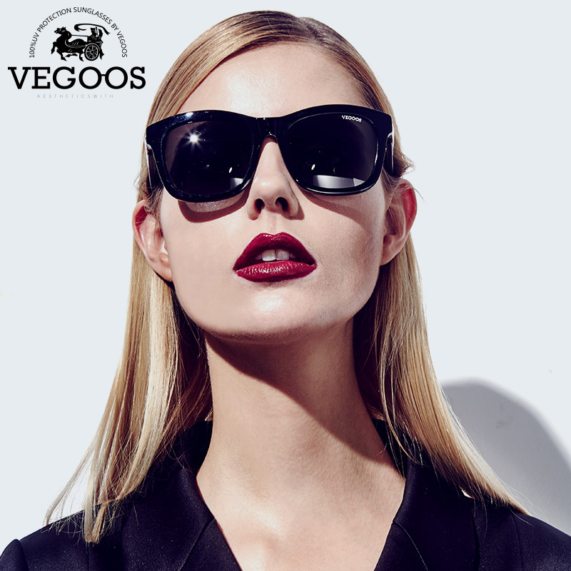VEGOOS Luxury Brand Designer Acetate Polaroid Sunglasses Men Women Square Sun Glasses Gafas de sol oculos masculino #2166 feidu мода steampunk goggles sunglasses women men brand designer ретро side visor sun round glasses women gafas oculos de sol