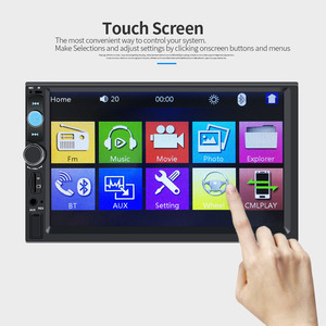 Image 3 - Centrale Multimidia 2Din 2 Din 7 Touch Screen Auto DVR Voor Achter Camera Bluetooth Radio Music Movie Player Multimedia autoradio