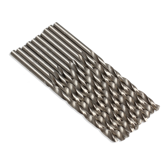 New 10pcs/set Metal Drilling Twist Drill Bit 3mm Micro HSS Twist Drilling Auger bit for Electrical Drill Tool Accessory new 10pcs jobbers mini micro hss twist drill bits 0 5 3mm for wood pcb presses drilling hobby tools
