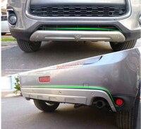 Сталь Передний Задний бампер протектор опорная плита для Mitsubishi ASX/Outlander Sport 2013 2014 2015