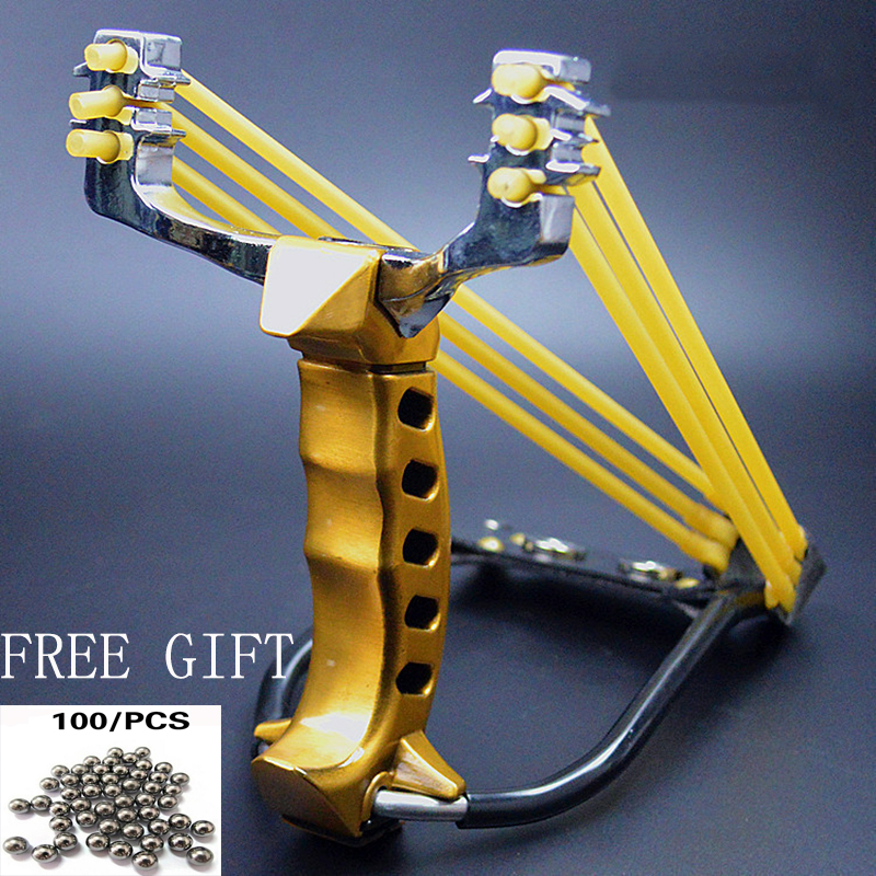 Powerful High Velocity Slingshot Catapult Tradition Sling Shot Hunting Games