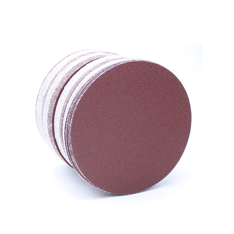 100pcs 5inches Round Sandpaper Disc Polishing Sheet 60#-1000# Grits