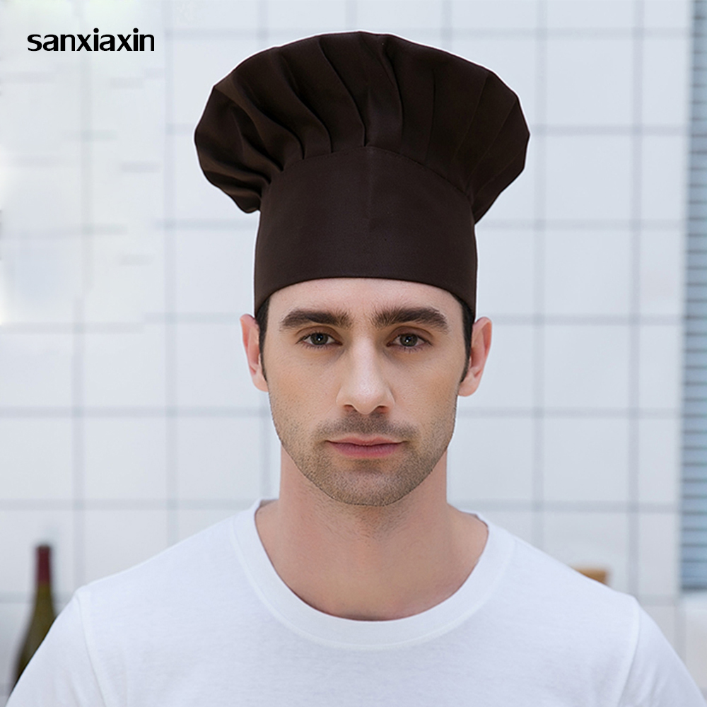 Sanxiaxin11 Colors Wholesale Unisex Fold Cap Chef Hat High Chef Waiter Hats Adult Restaurant Hats Hotel Bakery Canteen Chefs Hat