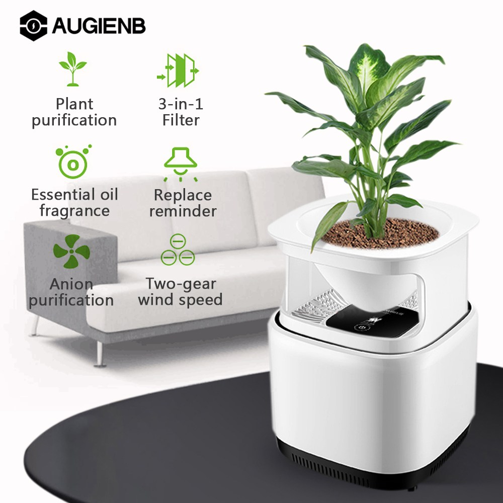 Mini Micro-ecology Desktop Air Purifier With Filter Ozone Free Fresh Air 1200W Negative Ion For Home/Office with Flower Stand 1pc air ozonator at88f negative ion and ozone air purifier air generator with filter with english manual