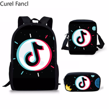 2019 New Fashion Funny Backpacks Children Bookbag Girls School Bag Boys Casual Daily Shoulder Set Pencil Crossbody Custom(China)