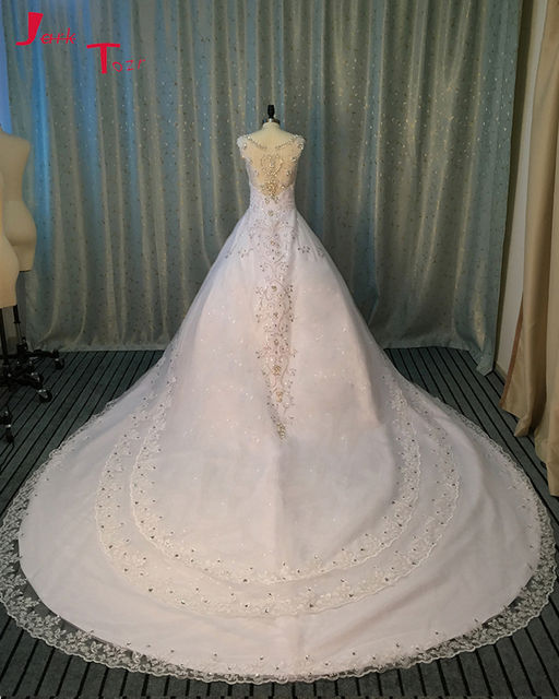 Jark Tozr Custom Made Gorgeous China Bridal Gowns With Chapel Train ...