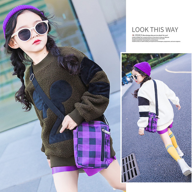 f8cbea620 Girls Sweater Kids Clothes 2018 New Winter Children Fashion Pullover Plus  Velvet Thick Sweater Children Clothing MKS41