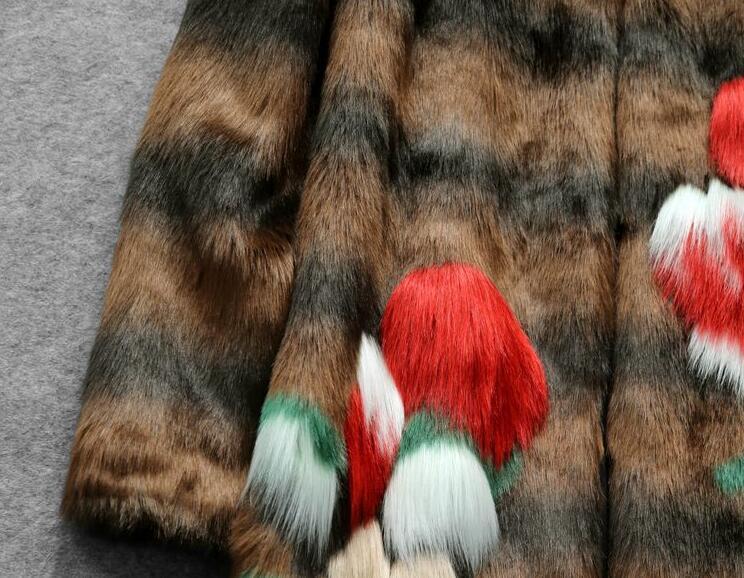Longues De 2017 Down Manteau Coloré Fourrure Turn Mode Printemps À Manches Col Avec Faux Femme Dénudée ZaUFRBZ