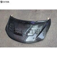 Для Honda Fit углеродное волокно Защитная крышка для капота двигателя с отверстиями Bonnets крышки двигателя автомобильный комплект кузова 13 18