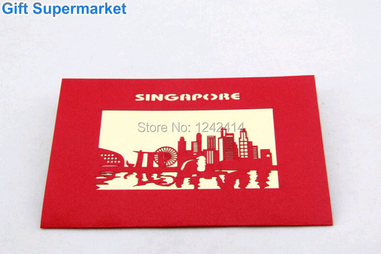 Singapore famous merlion greeting card 3d pop up handmade postcard singapore famous merlion greeting card 3d pop up handmade postcard invitation gift card gift supermarket 70pcslot free shipping on aliexpress alibaba m4hsunfo Images