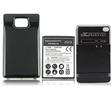 for Samsung Galaxy S2 i9100 GT-i9100 3500mAh Extended Backup Commercial Battery with Back Cover and Wall charger FreeShipping