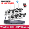 2MP CCTV System 1080P 8ch HD Wireless NVR Kit 1TB HDD Outdoor IR Night Vision IP