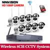 2MP CCTV System 1080P 8ch HD Wireless NVR Kit 1TB HDD Outdoor IR Night Vision IP