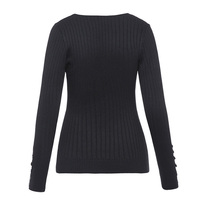 Sisjuly Women 60s Sweaters Striped Pullovers Long Sleeve O Neck Button Autumn Winter Long Sleeve Fashion
