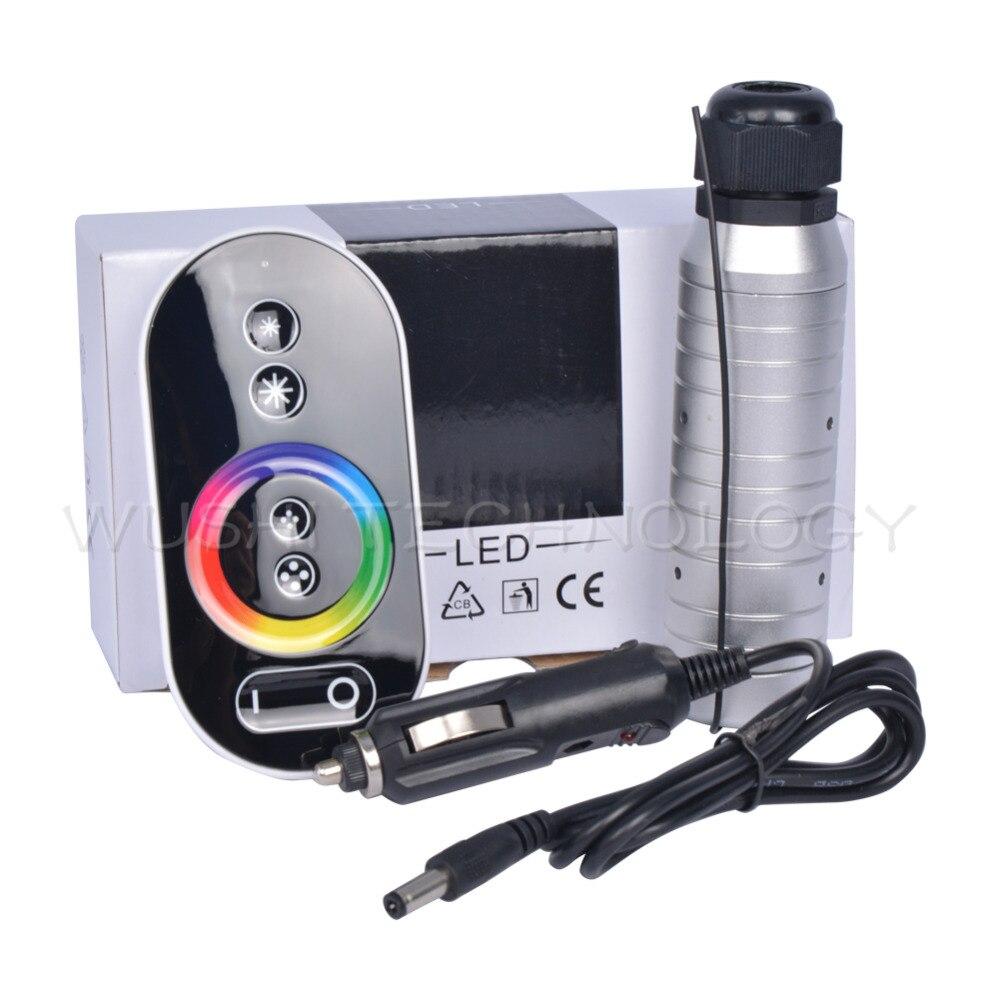 Mokungit Car use DC12V 6W RGB Touch RF remote LED Fiber Optic Light Engine LED Controller Driver free shipping 6w rgb led fiber optic illuminator with 17key rf remote controller car used dc12v input