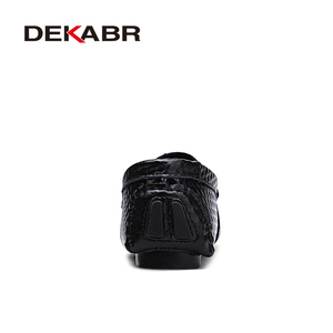Image 3 - DEKABR Brand New Slip On Casual Shoes Men 2021 Top Fashion Loafers Mens Moccasins Shoes Handmade Driving Flats Shoes For Men