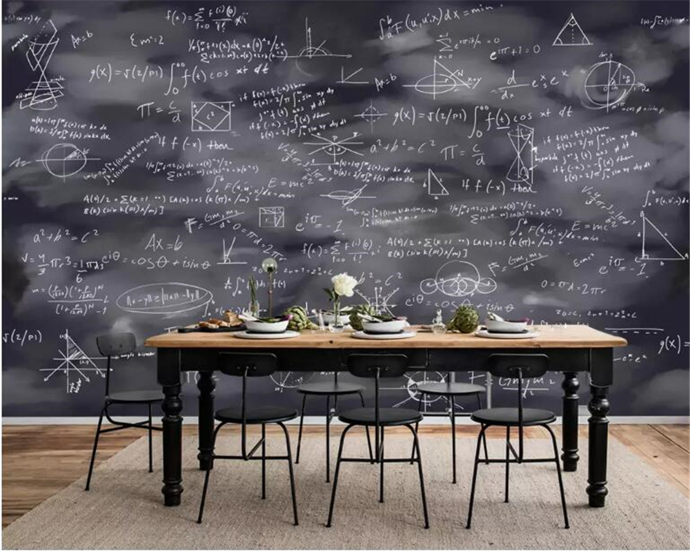 7 42 46 De Réduction Beibehang Papier Peint Mural Personnalisé Peint à La Main école Tableau Noir Peinture Peinture à La Craie Mode Fond Créatif 3d