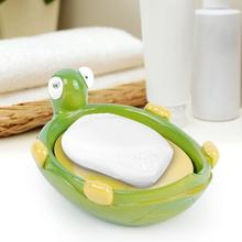 Tortoise-shape Creative Resin Soap Dish Holder Bathroom Shower Soap Saver Case with Drain Hole Soap Dish Plate for Sink Bathtub clinique facial soap with soap dish для сухой кожи