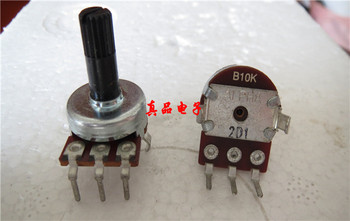 [VK] ALPHA imported Taiwan B103 subwoofer speaker B10K amplifier audio volume potentiometer handle length 16MM switch