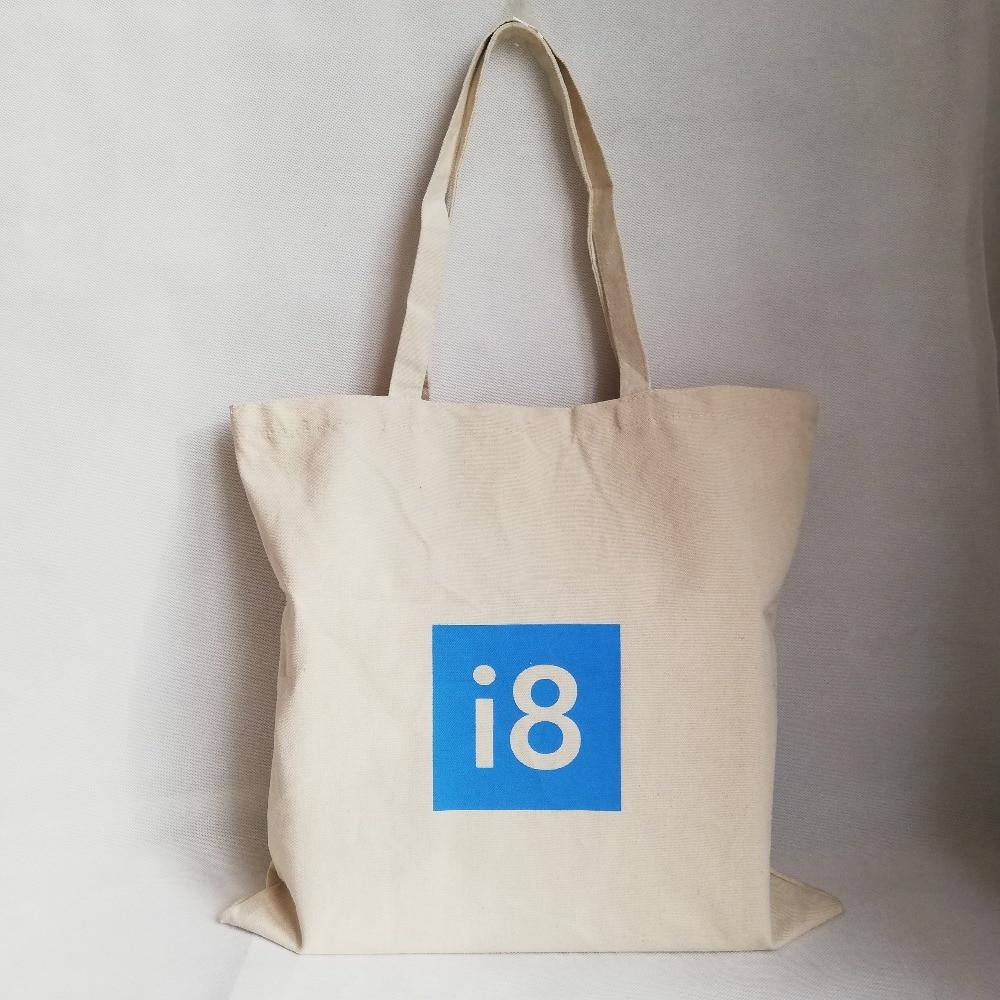 e81a56dc7b Wholesale 500pcs lot 33Hx26cm Fashion Women Durable Canvas Shopping Bags  Eco Reusable Foldable Shoulder Bag