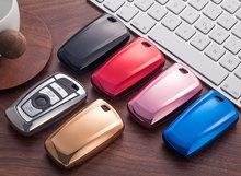 Samochód klucz skrzynki pokrowiec na BMW 520 525 f30 f10 F18 118i 320i 1 3 5 7 serii X3 X4 M3 M4 m5 Car Styling miękka TPU ochrona klucz Shell tanie tanio LISSE Red blue black silver gold pink 1 car key case bubble bag For keys as our picture