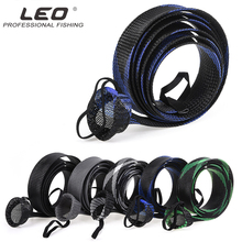 LEO 190cm Mesh Wrap Casting Fishing Rod Sleeve Cover Pole Glover Tip Protector Bag Tools fishing rod cover pet mesh anti scratch protector pole portable storage protection sleeve universal elastic stretch professional