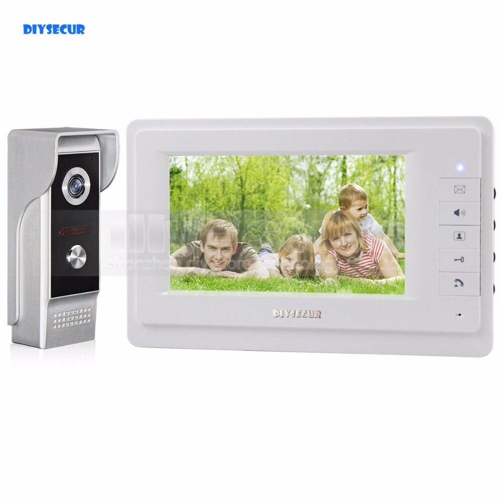 DIYSECUR HD 700TVLine IR Camera 7 inch TFT Color LCD Display Video Door Phone Video Intercom Doorbell Wholesale