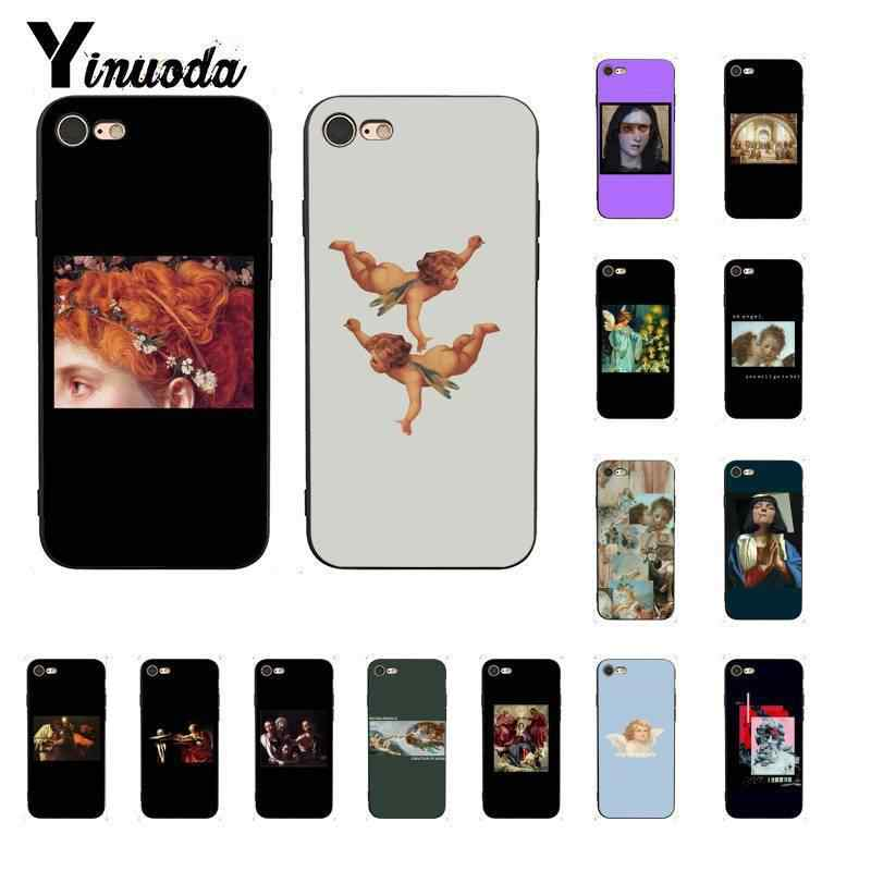 Yinuoda Oil painting art great Pattern Newly Arrived Black Phone Case for iPhone 5 5Sx 6 7 7plus 8 8Plus X XS MAX XR 10 Case