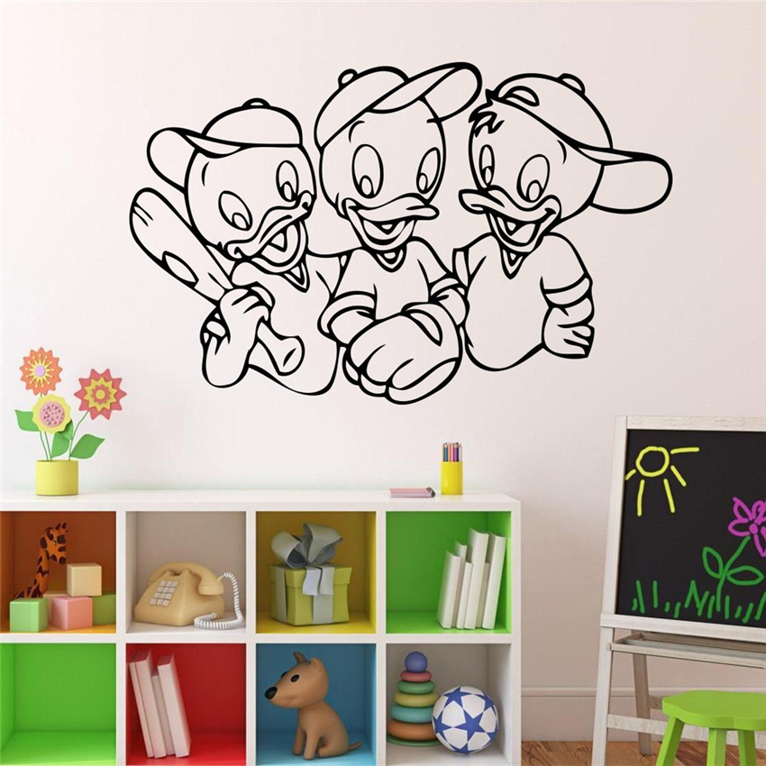 2018 Rushed Limited Neymar Duck Tales Game Comics Wall Decal Cartoons Kids Interior Living Room Stickers Home Decoration # M19 image