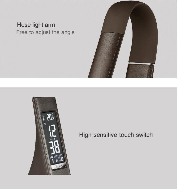 Lâmpadas de Mesa leitura lâmpada com despertador/calendário display Material do Corpo : Plástico