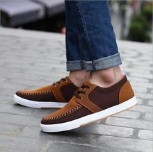 The new Daily leisure style canvas sneakers breathable canvas sneakers males's informal males's flat vulcanized