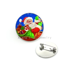 Fashion bright colorful Santa Claus brooch pins New Year Christmas dress accessories Xmas gifts badges brooches men women CM95