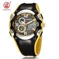 Pantalla LED Digital Fecha Hombres Reloj de Alarma Cronómetro A Prueba de agua 30 M Deportes Relogios Relojes 2016 Nueva OHSEN AS22