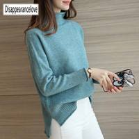 Disappearancelove 2018 women's heap turtleneck cashmere sweater women's sweater slim knitted sweater And Pullove