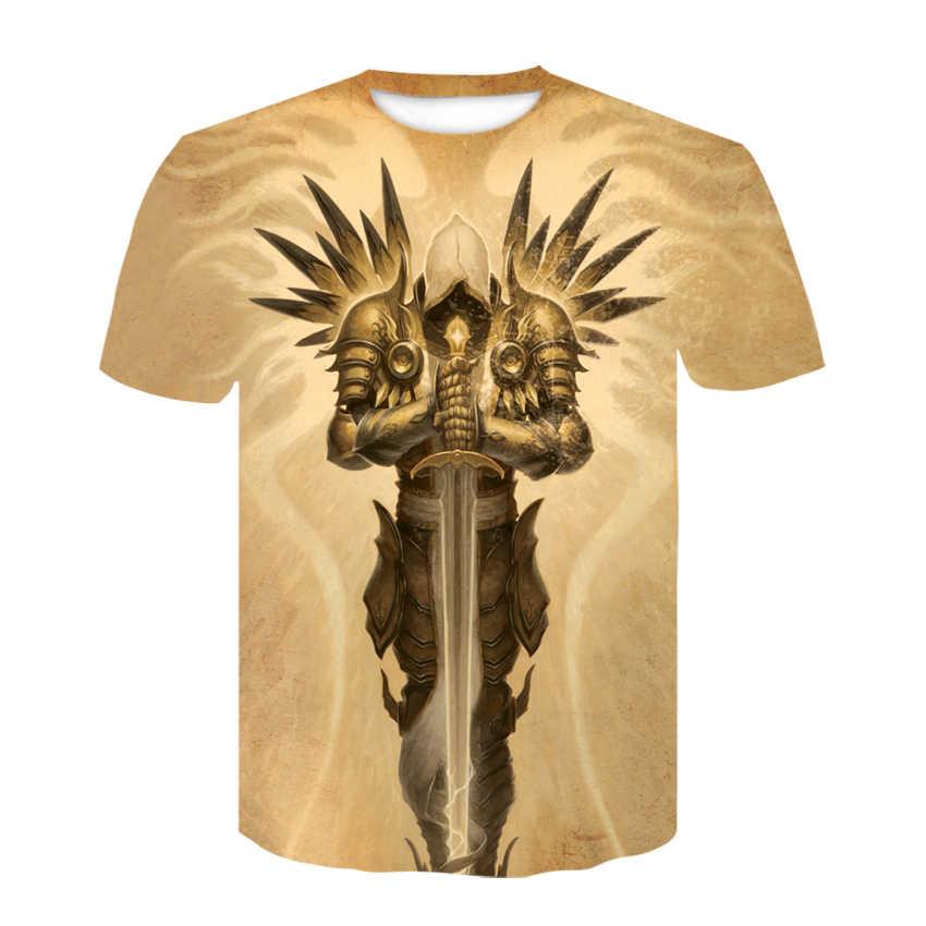 Новинка 2019 года, футболка в стиле хип-хоп в стиле Харадзюку С 3D принтом черепа, классная панковская футболка для мужчин, летние топы с короткими рукавами, футболки, модная футболка в стиле ворона с 3d