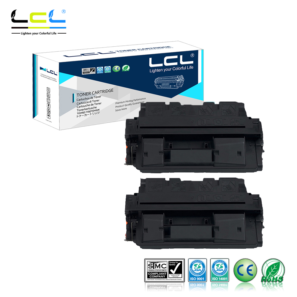 LCL 61A 61X C8061A C8061X 10000 Pages (2-Pack Black) Toner Cartridge Compatible for HP Laser Jet 4100/4100N/4100TN/4100MFP