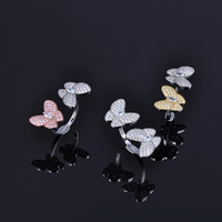 Designer Fashion 925 Sterling Silver Jewelry 3A Cubic Zirconia Party Adjustable Ring