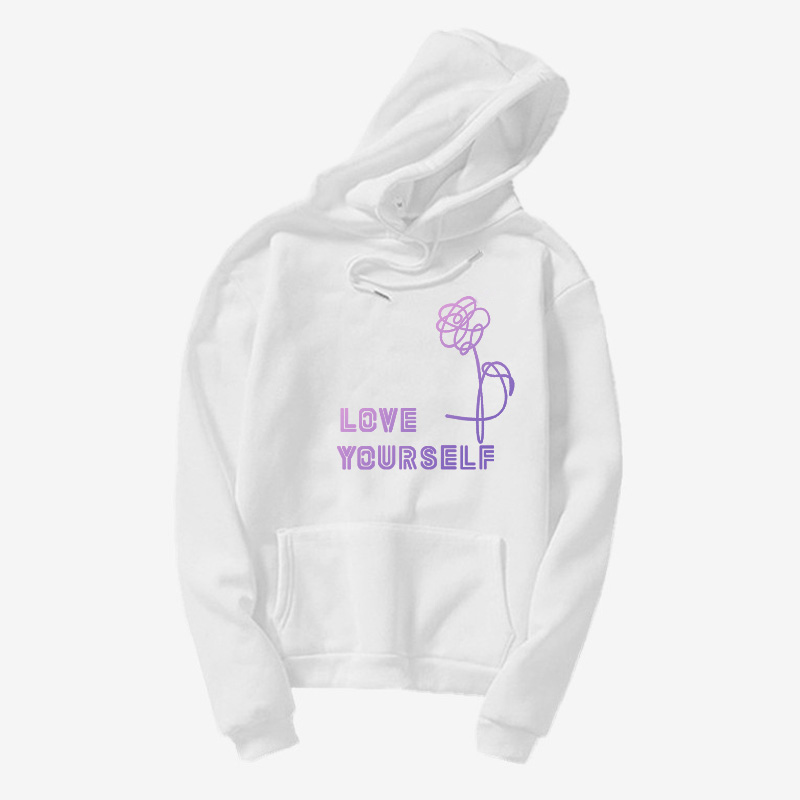 korea harajuku hoody love yourself hoodies HENJOY Love Yourself <font><b>k</b></font> <font><b>pop</b></font> Women Hoodies !turtle neck! Sweatshirts Bangtan boys image