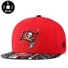 PLZ Moda 2018 Nova Snapback Crânio Bordado Chapéu Boné de Beisebol chapéu  de Sol de Verão Vermelho Para Os Homens Do Skate Cap H.. 34c57d26c2d