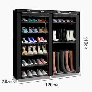 Image 2 - 43.3 אינץ 7 שכבה 9 רשת לא ארוג בדים גדול נעל rack ארגונית נשלף נעל אחסון עבור בית ריהוט ארון נעליים