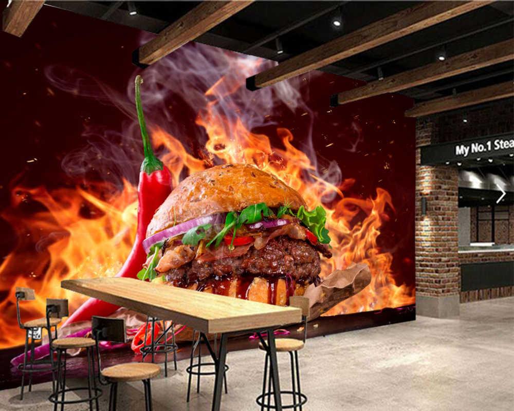 กระดาษเดparedอาหารอย่างรวดเร็วแฮมเบอร์เกอร์ผักอาหารวอลล์เปเปอร์3d,ห้องนั่งเล่นร้านอาหารครัวอาหารอย่างรวดเร็วร้านกระดาษบ้านตกแต่ง