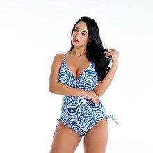 Swimsuit New Style 2019 One-Piece High Waist plus size Bikini 4XL  5XL 6XL