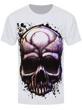 Painted Death Men's White Sub T-shirt Casual Plus Size T-Shirts Hip Hop Style Tops Tee S-3Xl T Shirt  Men 2018 Fashion