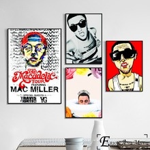 цена на Per Mac Miller No Cry Singer Posters and Prints Wall art Decorative Picture Canvas Painting For Living Room Home Decor Unframed