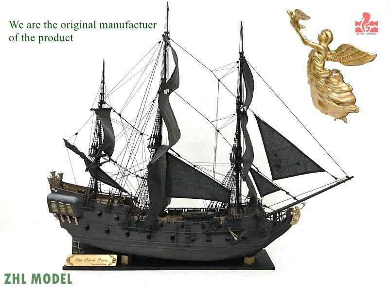 ZHL Black Pearl 1/50 legno modello di nave a vela kit versione nave pirata Dei Caraibi Manuale Inglese versione 2016