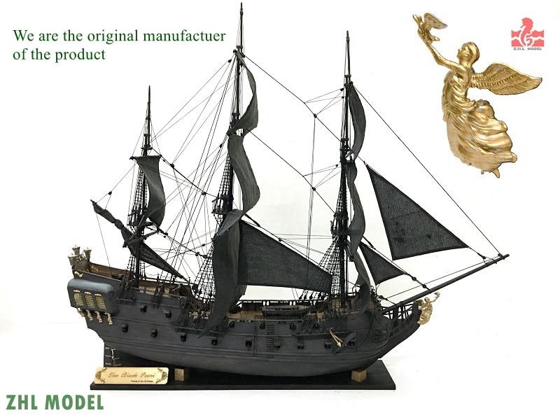 ZHL Noir Perle voile 1/50 maquette de bateau en bois kits version pirate Des Caraïbes navire Anglais Manuel version 2016