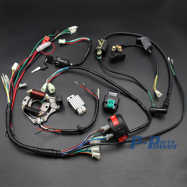 electrics wiring harness cdi coil magneto stator 50cc 70cc. Black Bedroom Furniture Sets. Home Design Ideas
