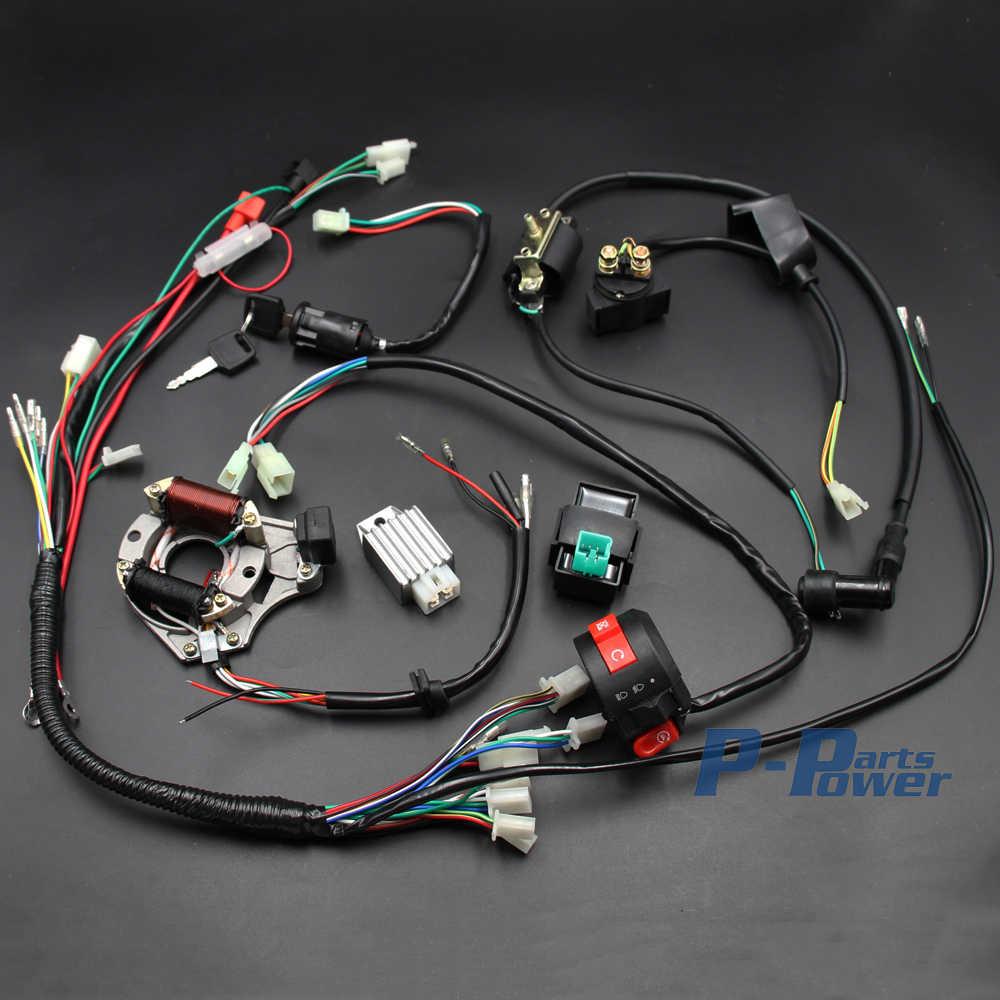 xtreme 90cc atv wiring diagram electrics wiring harness cdi coil magneto stator 50cc 70cc 90cc  cdi coil magneto stator 50cc 70cc 90cc