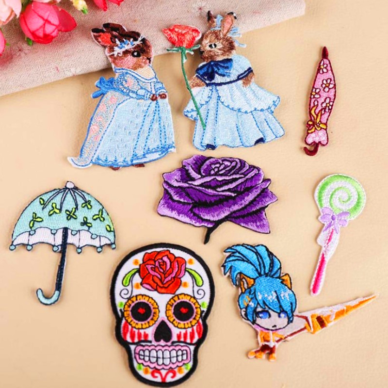 DOUBLEHEE Color Wedding Dress Patch Embroidered Patches For Clothing Iron On Close Shoes Bags Badges Embroidery
